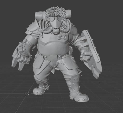 Mortian Heavy Ogre 1D front view