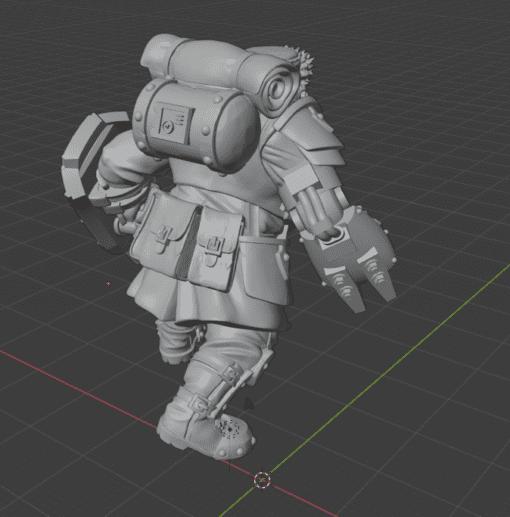 Mortian Heavy Ogre 1D rear view